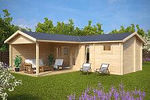 Gartenhaus mit Sauna Hansa B 22m2 / 70mm / 3×7