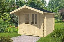 Gartenhaus mit Vordach Lily L 6,2m² / 28mm / 2×3