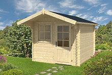 Gartenhaus mit Vordach Monica L 6,2m² / 28mm / 2×3