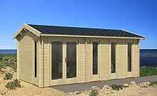 Gartenhaus NICE-40 Ferienhaus Blockhaus Holzhaus 300 x 575 cm - 40 mm