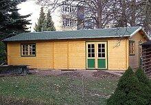 Gartenhaus NORDSEE II 515cm x 930cm - 45mm Gartenlaube Blockhaus Partyhaus Ferienhaus Holzhaus Holzlaube
