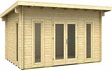 Gartenhaus OKLAHOMA 40 ISO Blockhaus Holzhaus 470 x 320 cm - 40 mm Ferienhaus