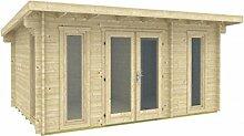 Gartenhaus OREGON 40 Blockhaus 470x320cm 40mm Holzhaus Ferienhaus