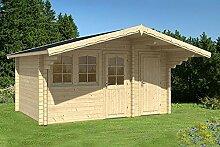 Gartenhaus PEDRO A 70 Blockhaus 445x320cm 70mm