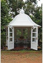 Gartenhaus Princess Gazebo Mahagoni Holzhaus Geräteschuppen Blockhaus weiß