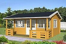 Gartenhaus RICHARD 70 Blockhaus Holzhaus 575 x 385