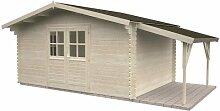 Gartenhaus Sandy 4.1 ca. 380 x 320 cm inkl. Schleppdach