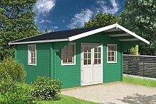Gartenhaus SAUERLAND C70 Blockhaus Holzhaus 470 x 380 cm - 70 mm Ferienhaus