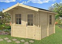 Gartenhaus Sauna JOONAS 70 ISO Blockhaus 300x400cm
