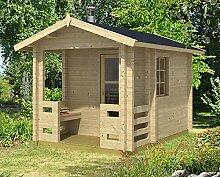 Gartenhaus Sauna JORMA 70 ISO Blockhaus 234x344cm 70mm Blockhaus Holzhaus