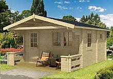 Gartenhaus Sauna PEKKA 70 ISO Blockhaus 445x445cm