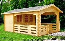 Gartenhaus SILVIA Blockhaus 350cm x 560cm - 45mm Gartenlaube Holzhaus Holzlaube