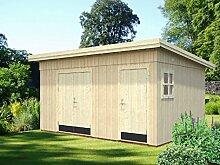 Gartenhaus Tilia T5d inkl. Fußboden, naturbelassen, Grundfläche: 15,10 m², Pultdach