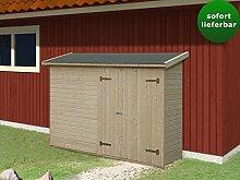 Gartenhaus Tilia T9a naturbelassen - 16 mm Blockbohlenhaus, Grundfläche: 2,20 m², Pultdach
