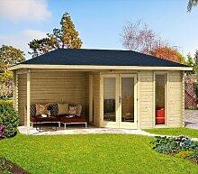 Gartenhaus VENEZIA 40 Blockhaus 576 x 300 cm Holzhaus 40 mm NEU