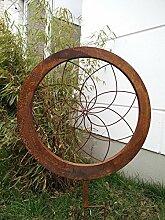 Garteninspiration Gartenskulptur aus Naturros