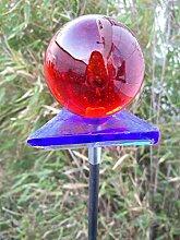 Garteninspiration Gartenstecker aus Glas