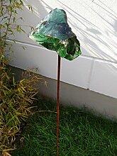 Garteninspiration Gartenstecker mit grünem Stein