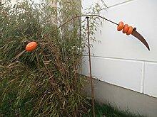 Garteninspiration Gartenstecker mit Vogelmotiv aus