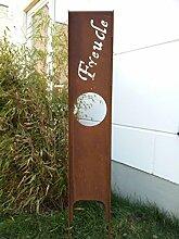 Garteninspiration Sichtschutz mit dem Schriftzug