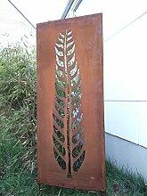 Garteninspiration Sichtschutz mit Pflanzenmotiv