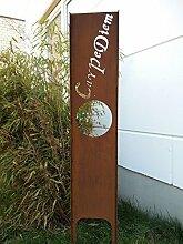 Garteninspiration Sichtschutz mit Schriftzug Carpe