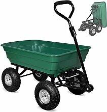Gartenkarre ✔ Kippfunktion ✔ Lenkachse ✔ Luftreifen - Bollerwagen Muldenkipper Kippwagen Transportkarre Gartenwagen