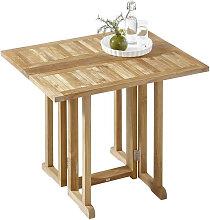 GARTENKLAPPTISCH Holz Teakfarben