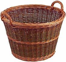 Gartenkorb rund, braun/dunkelbraun, Øo 50cm x Øu 34cm x H 35cm