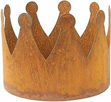 Gartenkrone Krone 25cm Metall Rost Gartendeko Edelros