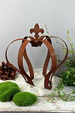 Gartenkrone Krone Metall Rost Gartendeko Edelrost 28,5cm