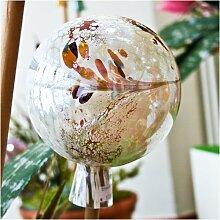 Gartenkugel aus Glas, Alabaster