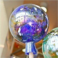 Gartenkugel aus Glas, Blau