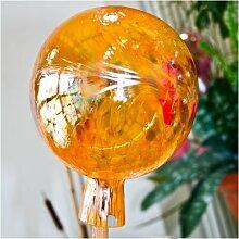 Gartenkugel aus Glas, Orange