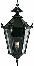Gartenlaterne Aluminium grün elektrische Wandlampe Garten Beleuchtung Antik Stil 66 cm