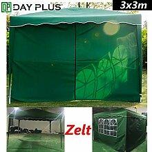 Gartenlaube 3x3m Wasserdichtes Pavillon Partyzelt,