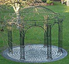 Gartenlaube, Garten Pavillon, Rosenpavillon, Pavillon Eisen, Pavillon Metall Rund Athene Ø 300 cm (Schwarz Bergolin)