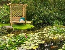 GartenlaubenundCarports Köln Pergola mit Bank 207