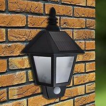 Gartenleuchte 2x Solar Wandlampe Mit