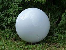 Gartenleuchte Kugelleuchte 40cm Marlon, mit Erdspieß Außenleuchte, Kugellampe, Gartenlampe