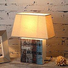 Gartenleuchten/Schlafzimmer Bett Lampe/Nordeuropa,Simple,American Village,Retro-dekoration,Lampe/Wohnzimmer Studie Schreibtischlampe-B