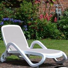 Gartenliege Garten Living Farbe: Weiß