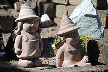 Gartenmädchen,lustige Figur aus Terra,sitzend,33cm