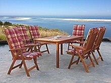 Gartenmöbel 13tlg mit 160cm Klapptisch Terrassenmöbel Rio Grande Sunshine