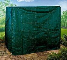 Gartenmöbel Abdeckung Schutzhülle 2-Sitzer Hollywoodschaukel 130 gsm Poly grün - aus hochwertigem reißfestem 130 gsm gewobenem PE-Gewebe hergestellt - mit Ösen, Nylonkordel und Reißverschluss - detaillierte Maße : 175 cm hoch, 202 cm breit, 108 cm tief