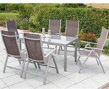 Gartenmöbel Aluminium Set 6x Garten Klappsessel
