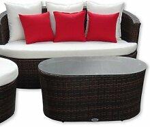 Gartenmöbel - Garten Lounge Set – rundes Design