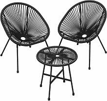 Gartenmöbel-Set, 3er-Set, Garten-Sitzgruppe,