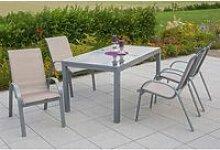 Gartenmöbel Set 5-teilig, Gartentisch 140cm bis