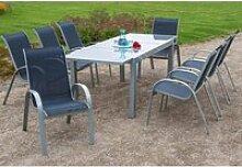 Gartenmöbel Set 9-teilig, Gartentisch 180cm bis